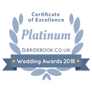 Bridebook wedding award 2018